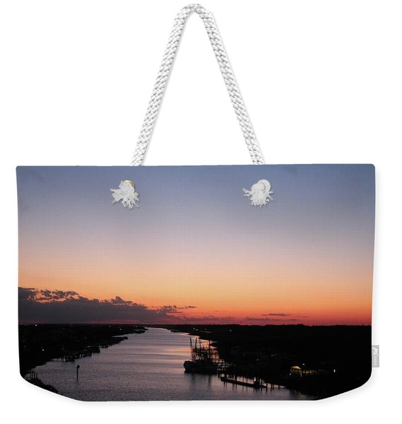 Waterway Sunset #1 Weekender Tote Bag