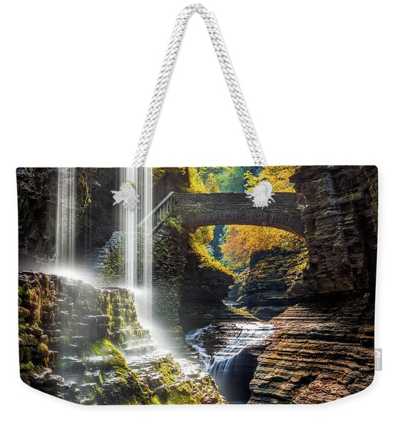 Weekender Tote Bag featuring the photograph Watkins Glen State Park by Mihai Andritoiu