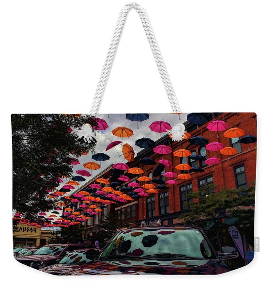 Wausau's Downtown Umbrellas Weekender Tote Bag
