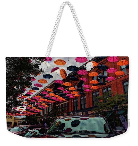 Wausau's Downtown Umbrellas Weekender Tote Bag