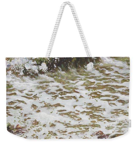 Wave And Colorful Pebbles Weekender Tote Bag