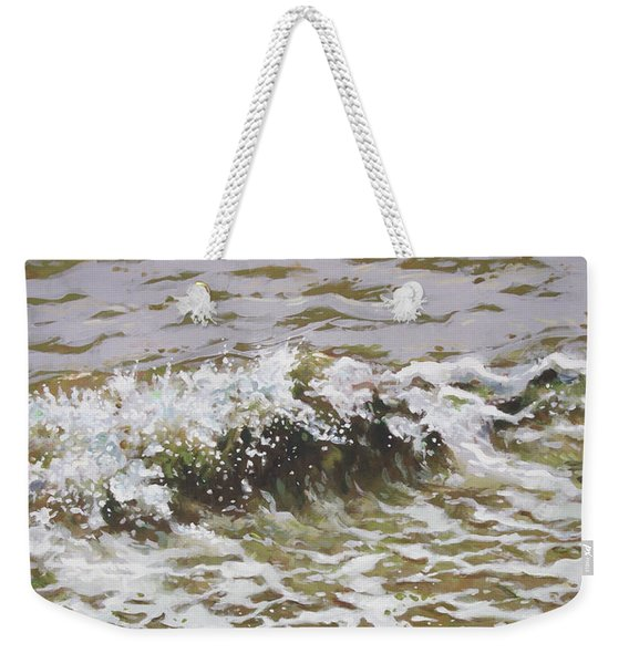 Wave And Colorful Pebbles Weekender Tote Bag