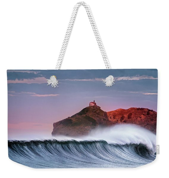 Wave In Bakio Weekender Tote Bag