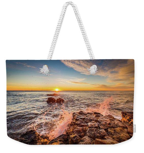 Wave Splashes Weekender Tote Bag