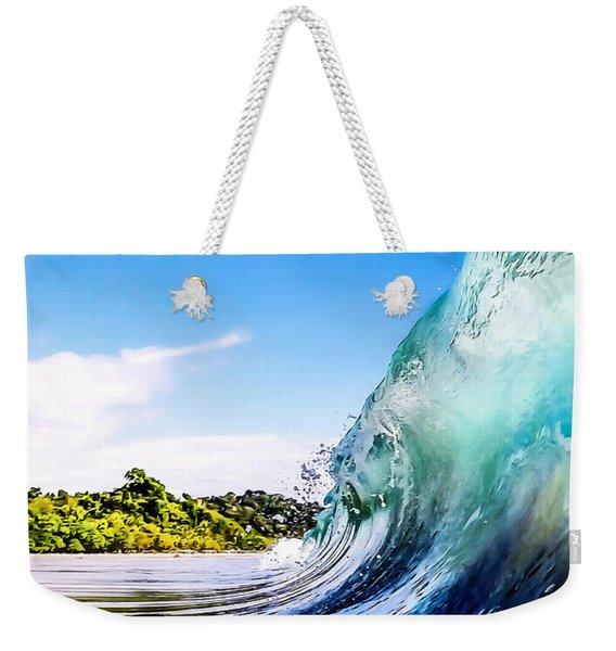 Wave Wall Weekender Tote Bag