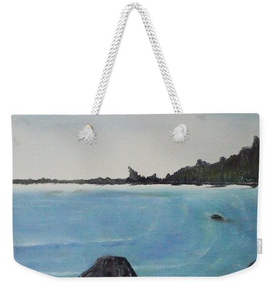 Waves And Pines Weekender Tote Bag