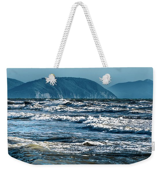 Waves At Populonia Promontory - Onde Al Promontorio  Weekender Tote Bag