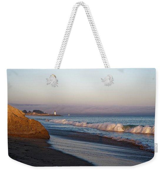 Waves At Santa Cruz Weekender Tote Bag