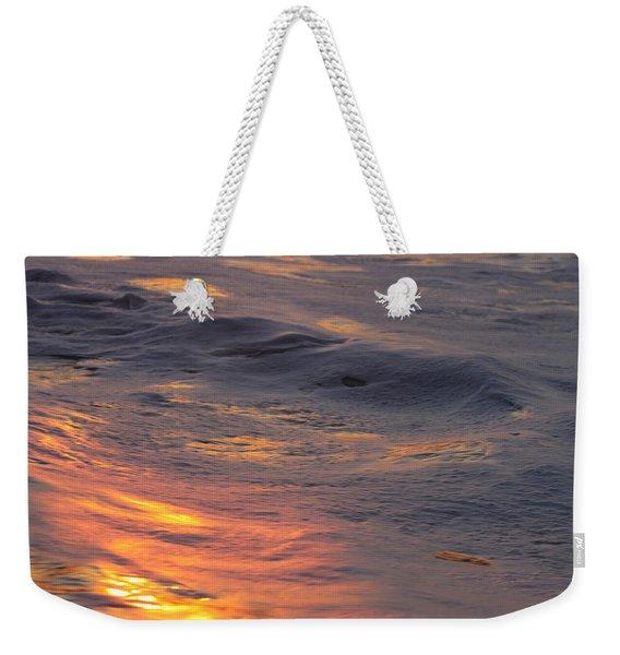 Waves Dawn Reflections Weekender Tote Bag