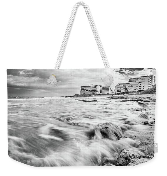 Waves On The Beach Weekender Tote Bag
