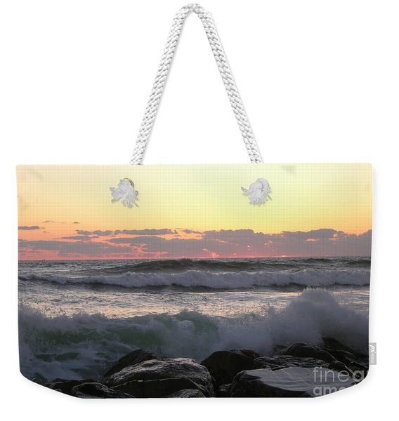 Waves Over The Rocks  5-3-15 Weekender Tote Bag