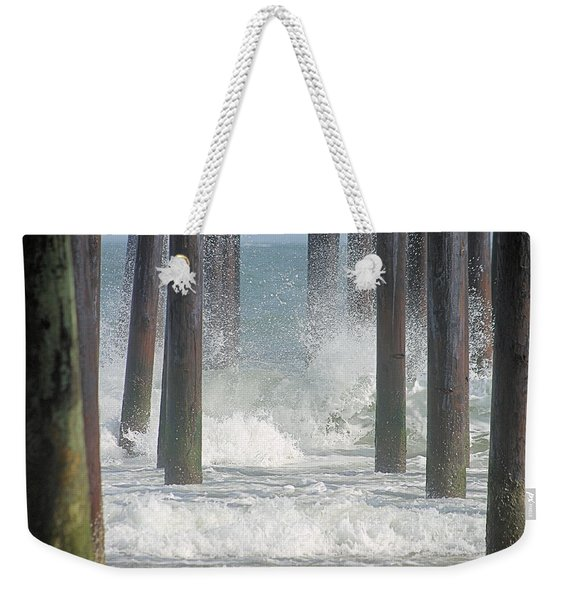 Waves Under The Pier Weekender Tote Bag