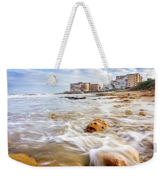 Waves Washing The Rocks Weekender Tote Bag