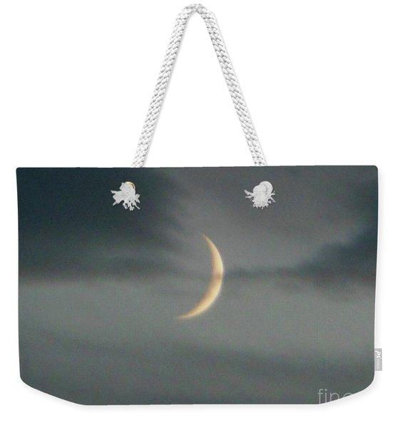 Waxing Crescent Moon Weekender Tote Bag