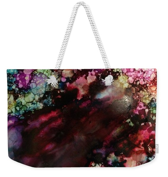 Weekender Tote Bag featuring the painting Way Out by Denise Tomasura