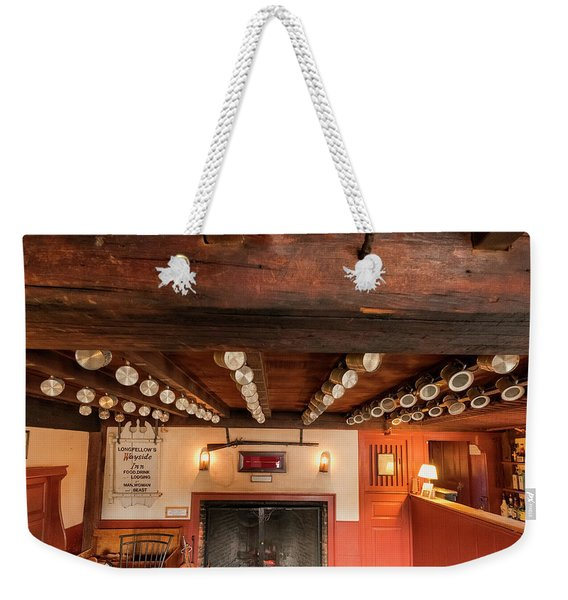 Weekender Tote Bag featuring the photograph Wayside Inn Bar by Tom Singleton