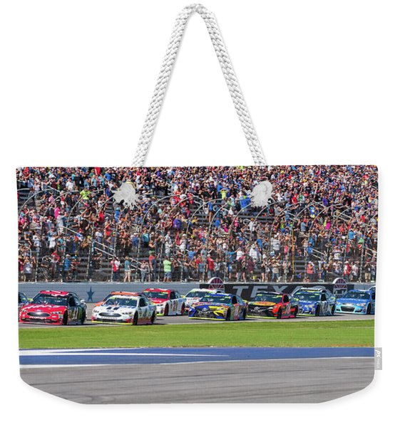 We Have A Race Weekender Tote Bag