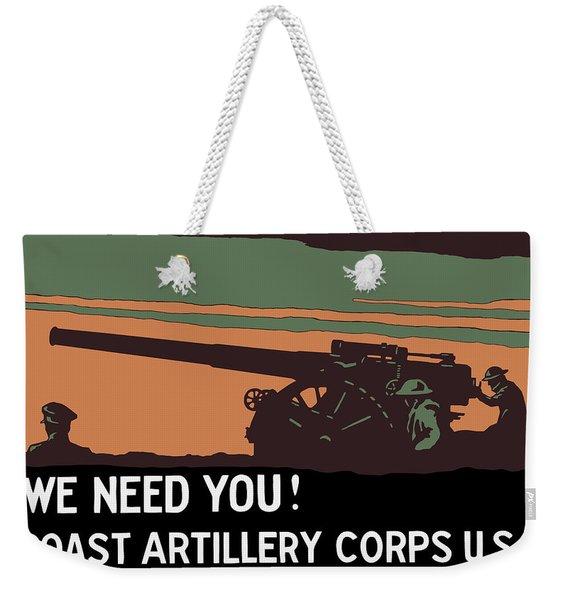 We Need You - Coast Artillery Corps Usa Weekender Tote Bag
