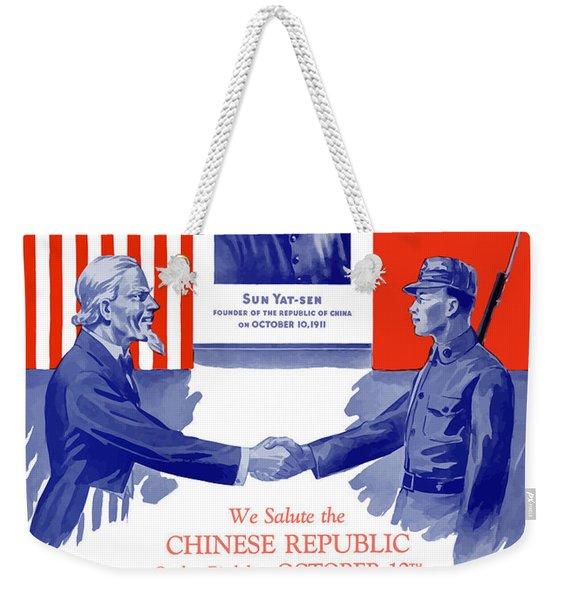 We Salute The Chinese Republic Weekender Tote Bag