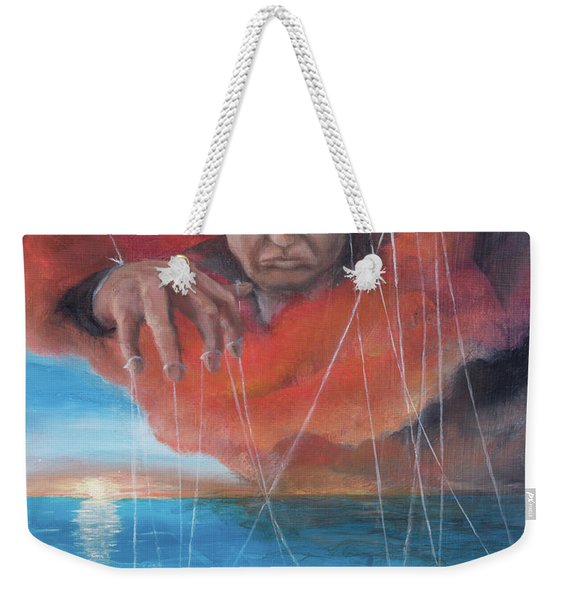 Weekender Tote Bag featuring the painting We Traded Our Hearts For Stones by Break The Silhouette