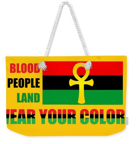 Wear Red Black And Green Weekender Tote Bag