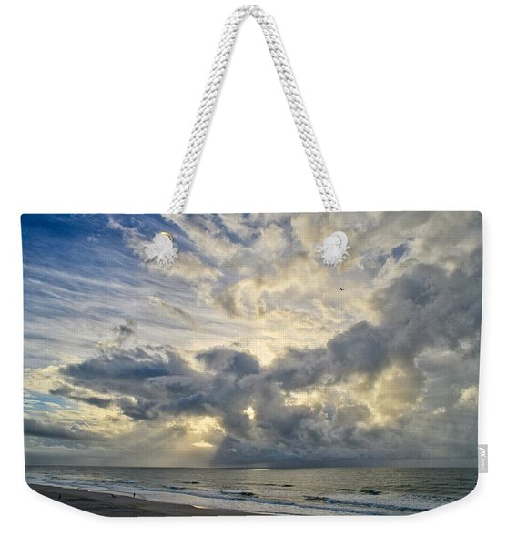 Weather Over Topsail Beach 2977 Weekender Tote Bag