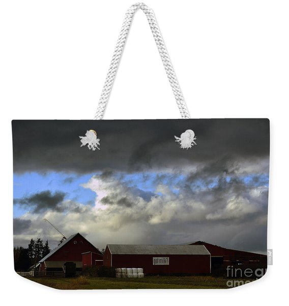 Weather Threatening The Farm Weekender Tote Bag