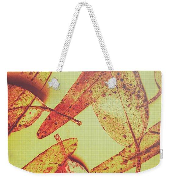 Weathered Autumn Leaves Weekender Tote Bag