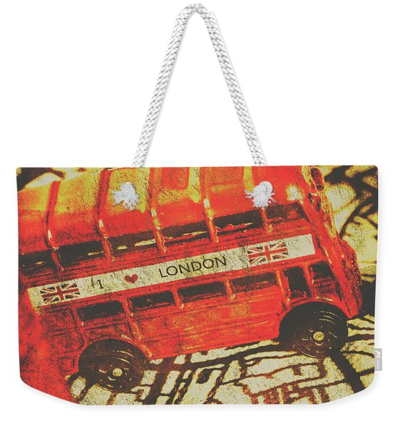 Weathered Bus Routes Weekender Tote Bag