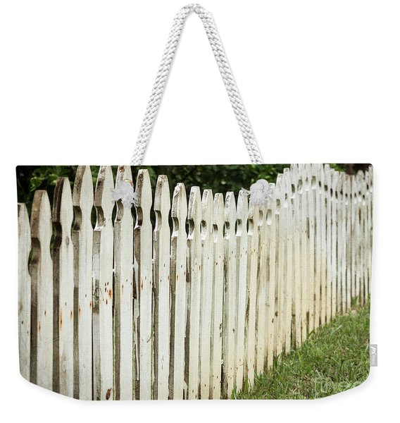Weathered Fence Weekender Tote Bag