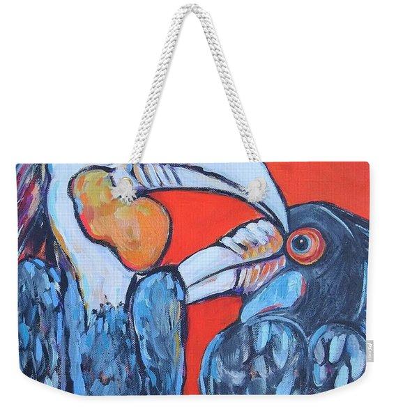 Weathered Hornbills Weekender Tote Bag