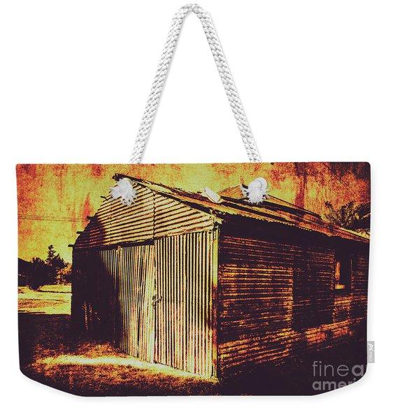 Weathered Vintage Rural Shed Weekender Tote Bag