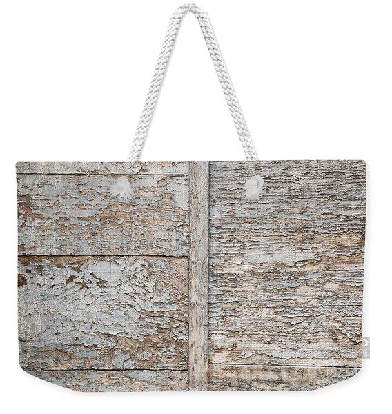 Weathered Wood Background Weekender Tote Bag