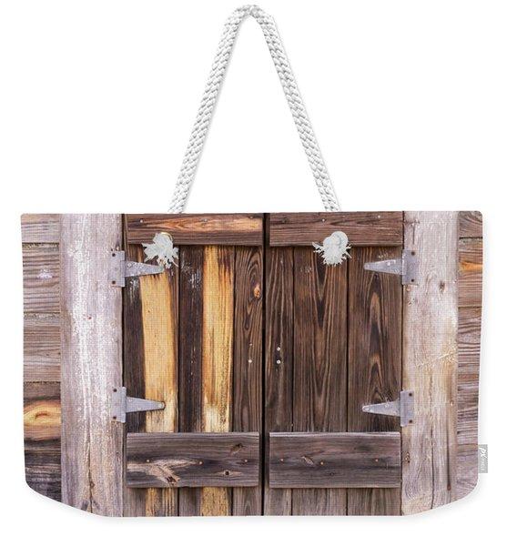 Weathered Wooden Shuttered Window Weekender Tote Bag