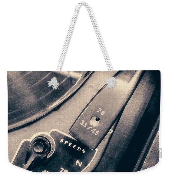 Webcor Musicale Phonograph Weekender Tote Bag