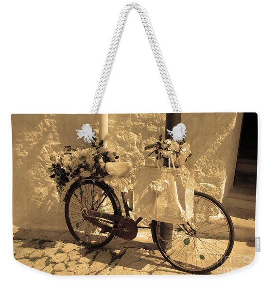 Wedding Bike Weekender Tote Bag