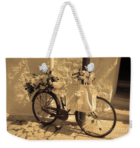 Wedding Bike Weekender Tote Bag