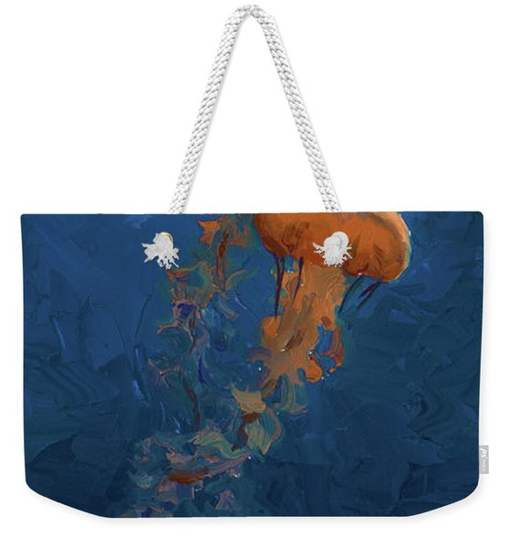 Weightless - Pacific Nettle Jellyfish Study  Weekender Tote Bag
