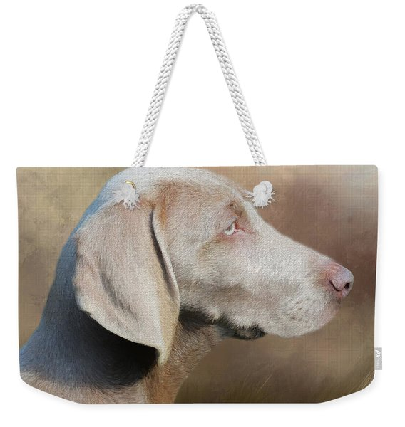 Weimaraner Adult - Painting Weekender Tote Bag