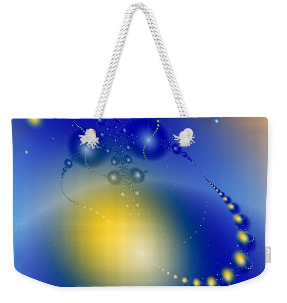 Weird Galaxy Weekender Tote Bag