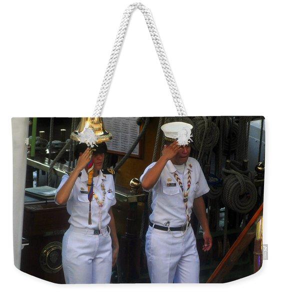 Welcome Aboard The Gloria Weekender Tote Bag