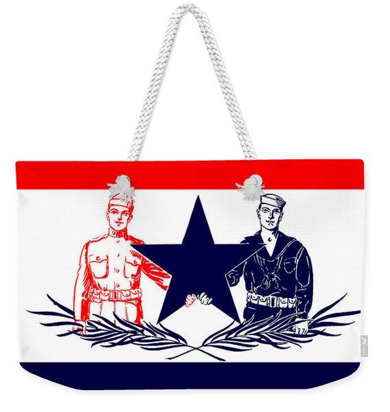 Vintage Welcome Home Military Sign Weekender Tote Bag