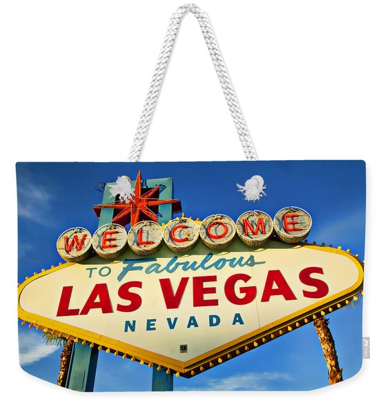 Welcome To Las Vegas Sign Weekender Tote Bag