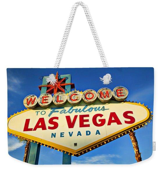 Welcome To Las Vegas Sign Weekender Tote Bag