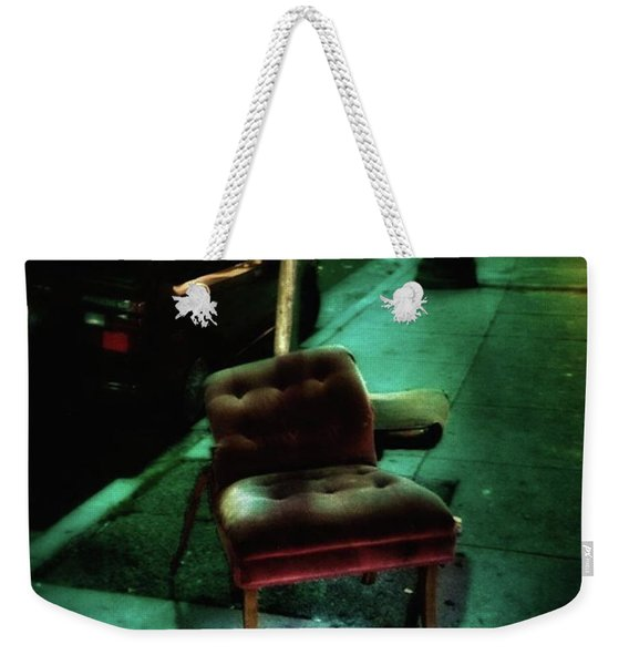 Weekender Tote Bag featuring the photograph Welcome To My Living Room, Pull Up A by Mr Photojimsf