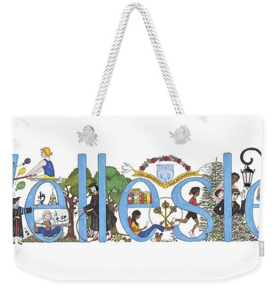 Wellesley College Weekender Tote Bag