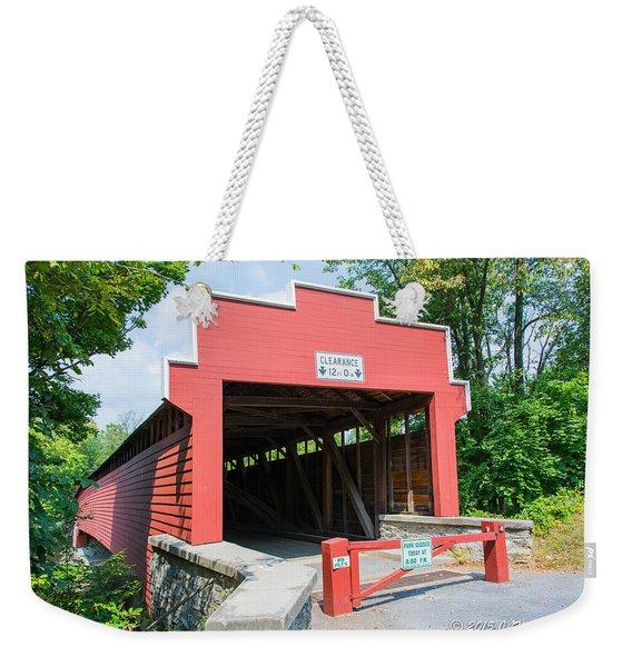 Wertz Covered Bridge Weekender Tote Bag