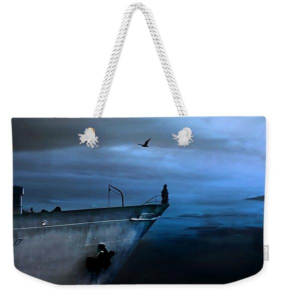 West Across The Ocean Weekender Tote Bag