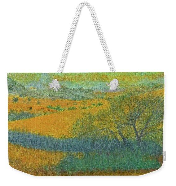 Weekender Tote Bag featuring the painting West Dakota Reverie by Cris Fulton
