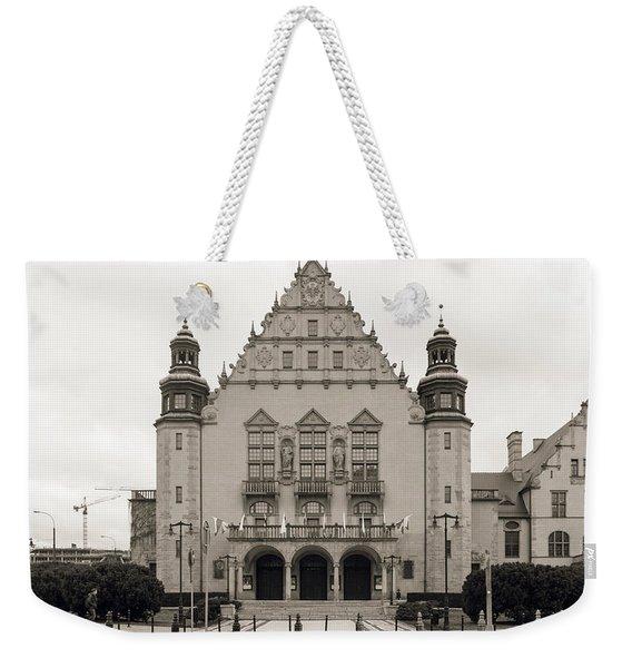 West Facade Of Adam Mickiewicz University Poznan Poland Weekender Tote Bag